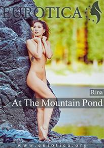 Rina showing off her naturally gorgeous body at the mountain pond.
