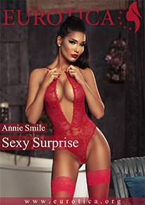 Annie Smile loves to surprise her man with a sexy lingerie after a long day.