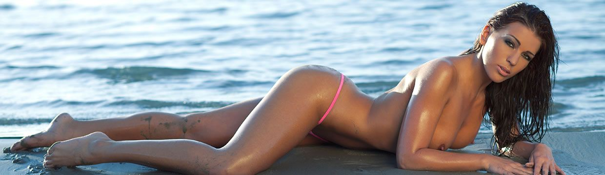 Who wouldn't want to rest on the beach on a hot summer day with Isabella?